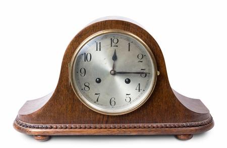 Retro hölzerne Uhr