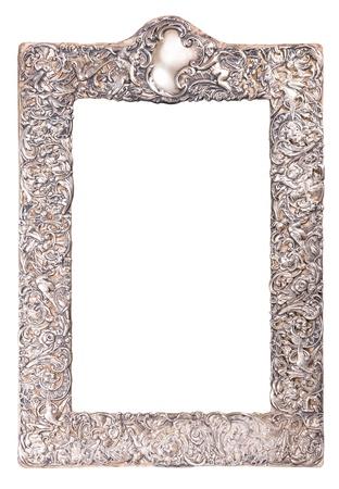 alte Silber glänzend Rahmen mit reichen Ornament für Spiegel