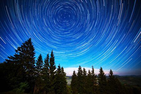 Long exposure photo of starry sky