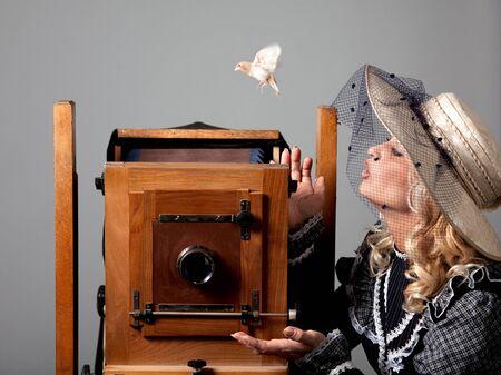 Portrait of a mysterious beautiful young woman Zdjęcie Seryjne