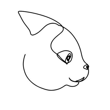 Continuous line art, hand drawn horse head. Mustang portrait, contour stallion. Vector illustration for design slogan, t-shirts.