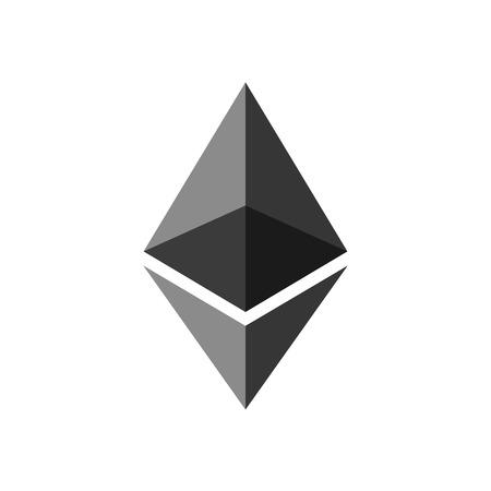 Ethereum. Cryptocurrency Ethereum logo. Cryptography modern money.