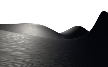 abstract background metal or liquid wave or wavy folds of black aluminum texture. elegant wallpaper design. 3d illustration.