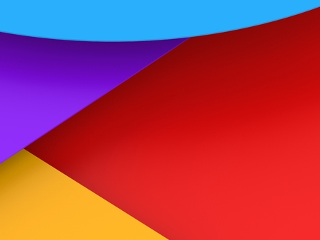 Multicolor background from a shpes of different colors. 3D Render.