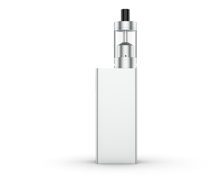 Modern electronic mod vaping device isolated on white background. 3d illustration.