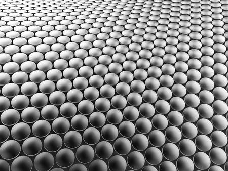 Aluminum discs construction wavy background. 3d illustration. Фото со стока - 90007550