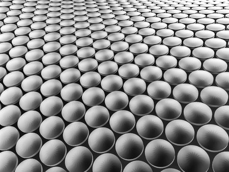Aluminum discs construction wavy background. 3d illustration. Фото со стока - 90014520