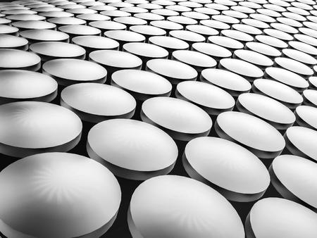 Aluminum discs construction wavy background. 3d illustration. Фото со стока - 90017416