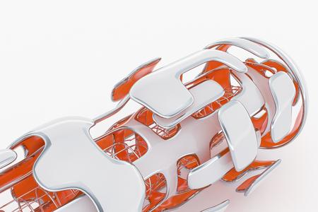 Concept of Hi-Tech Technology. 3D Rendering Abstarct Futuristick Background Фото со стока - 96153253