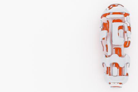 Concept of Hi-Tech Technology. 3D Rendering Abstarct Futuristick Background Фото со стока - 96133981