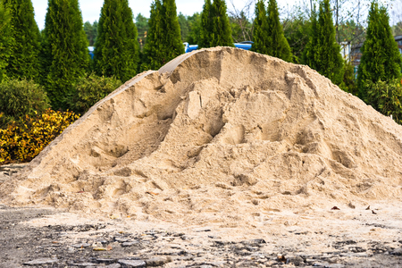Pile of sand for construction and building Archivio Fotografico