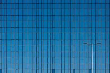 Glass windows facade modern office building flat