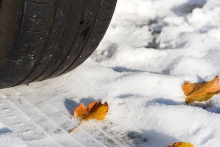 worn summer tire on the snow late fall Time To Switch Over to winter Tires