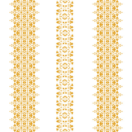Tribal seamless pattern isolated on the white background made in vector. Tribal vintage ethnic elements for clothing design or home decor. Oriental ornament, Mexican, Aztec and African collection of tribal art.