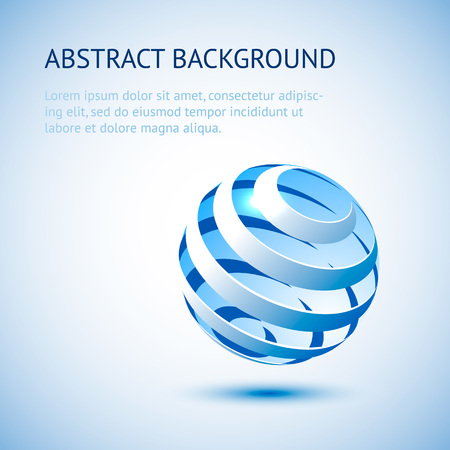 blue sphere: Abstract background with blue sphere. Geometric vector illustration.