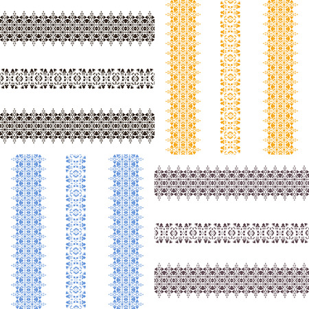 Set of isolated seamless patterns. Tribal vintage ethnic elements for tattoo art, clothing design or home decor. Oriental ornament, Mexican, Aztec and African collection of tribal art. Stock Vector - 50510673