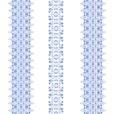 Tribal seamless pattern isolated on the white background . Tribal vintage ethnic elements for clothing design or home decor. Oriental ornament, Mexican, Aztec and African collection of tribal art. Stock Vector - 50510760