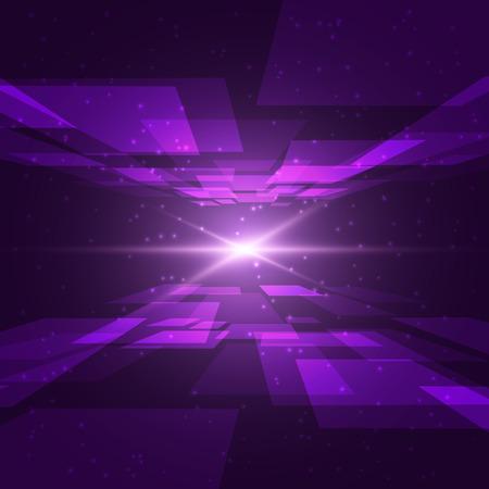 Violet Raum mit hellen Blick. Liebe Sie zum Mond und zurück Konzept.