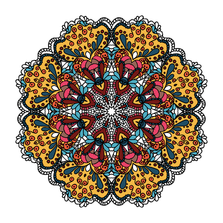 bright: Bright circle ornament. Mandala.