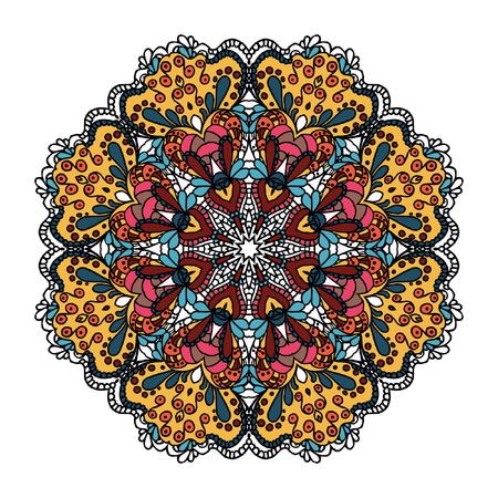 Bright circle ornament. Mandala.