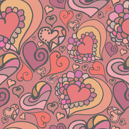 heart seamless pattern . Soft and sophisticated decoration for your design