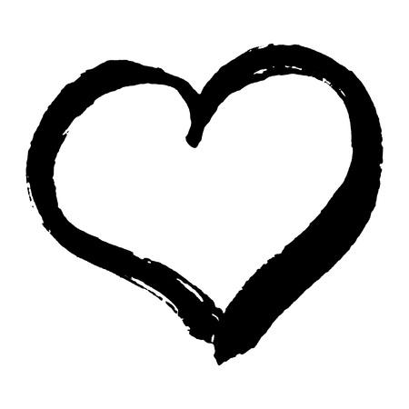 blanco: Dibujado a mano en forma de corazón de moda para su diseño romántico. Concepto del día de San Valentín hecha en el vector.