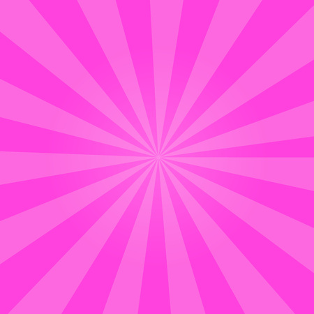 Bright pink cartoon background with repeated stripes around the center made in vector. Perfect shiny design with vibrant colors for girlish comics, hen-party posters. Valentines day concept. Illustration