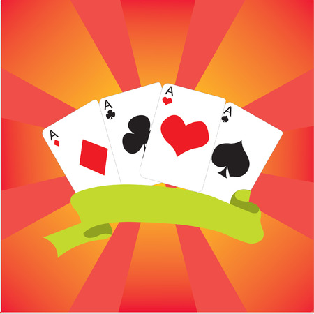 frame with four aces Vector