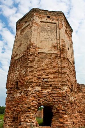 Ruins of the tower Carthusian monasteries in Belarus, Bereza photo