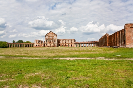 The ruins of the old palace in Belarus