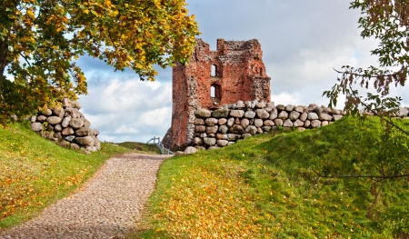 The ruins of the old palace in Belarus Stock Photo - 17269424
