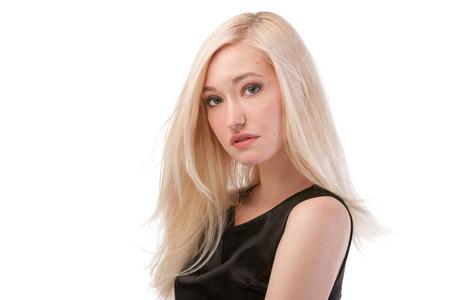 Portrait of cute blonde woman photo