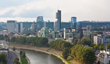 VILNIUS, LITHUANIA, AUGUST 10  Skyline financial centre of Vilnius, Lithuania, shown on August day 2013