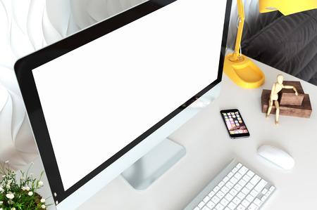mock up devices in interior. 3d rendering, 3d illustration Banque d'images - 95538500
