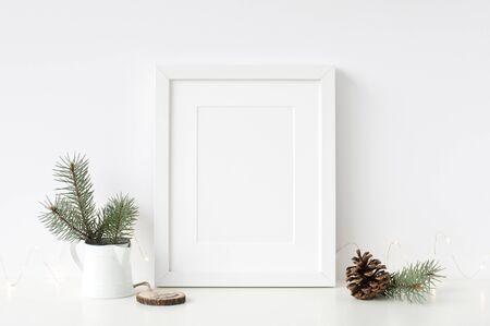 Frames Christmas Mockup. Scandinavian style. Foto de archivo - 133316153