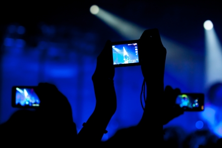 concerto: Concert video recording with cell phone Stock Photo
