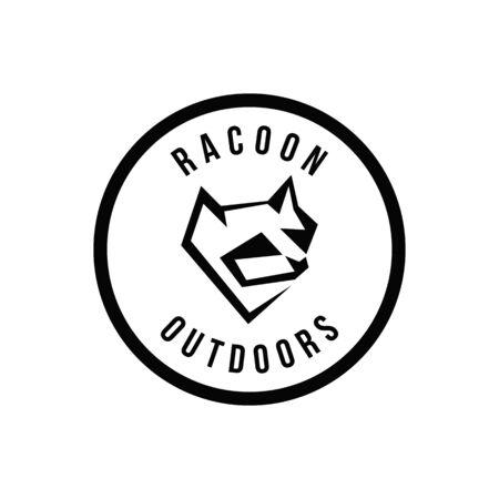 Racoon geometric logo Logo