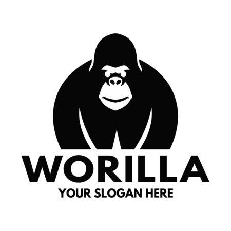 Gorilla and  combine letter W Ilustração