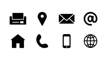 buisness card icons Illustration
