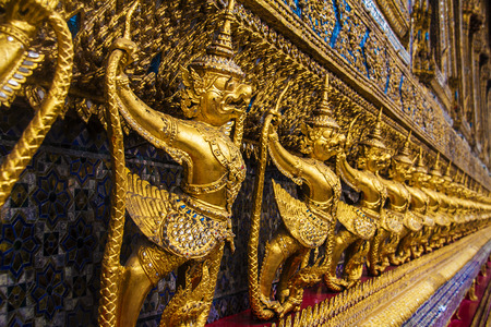 jade buddha temple: The Emerald Buddha statue Stock Photo