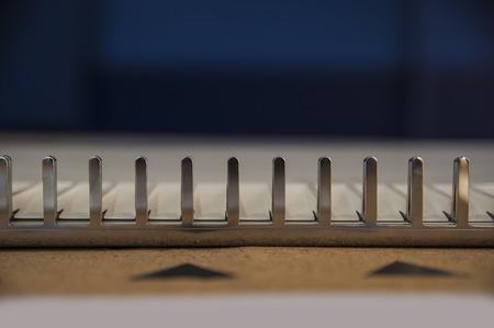 Textuur van het staal in vormen
