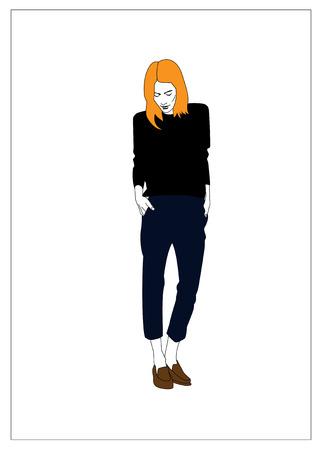 Blonde meisje Stock Illustratie