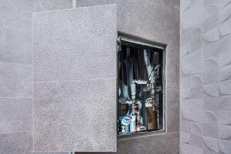 The open door of the secret hidden hatchway