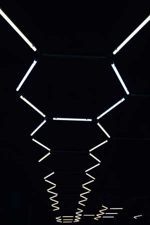 Abstract light background. Background of glowing abstract lines