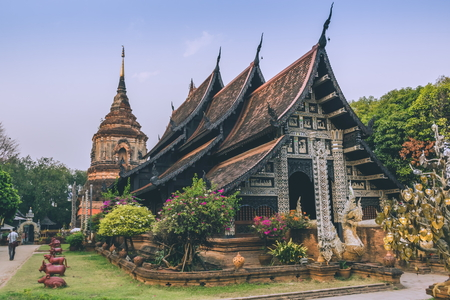 molee: Ancient Temple Lok Molee Temple. Chiang Mai, Thailand