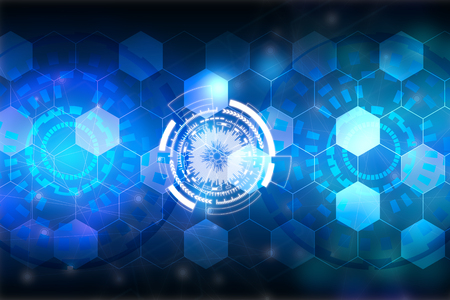 Abstract blue background. Technology background.Innovative technologies for industries