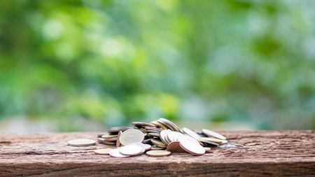 Investment and financial concept, Close up of stacking coins of growth to profit finance.