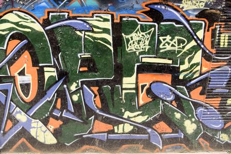 Straatgraffiti op de muur