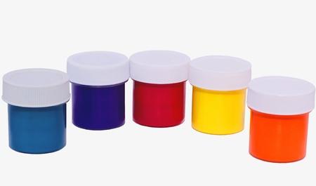 gouache: Multi-colored gouache Stock Photo