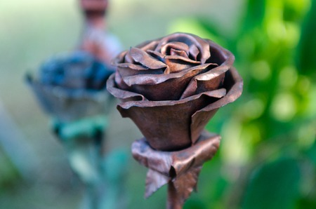flower made out of a piece of metal smith